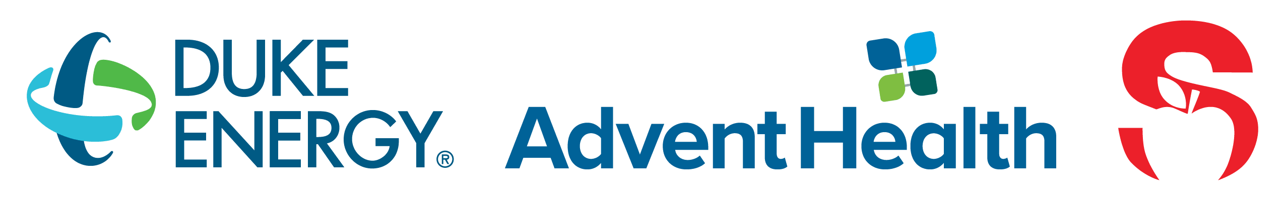 Duke Energy, Advent Health, SCPS Logos