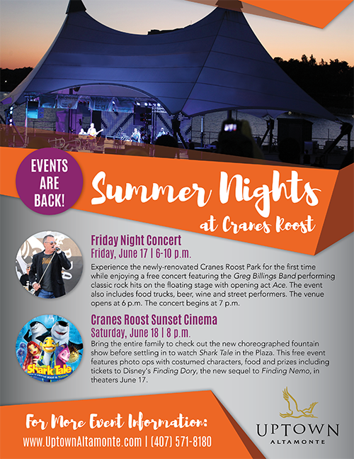 June Events at Cranes Roost
