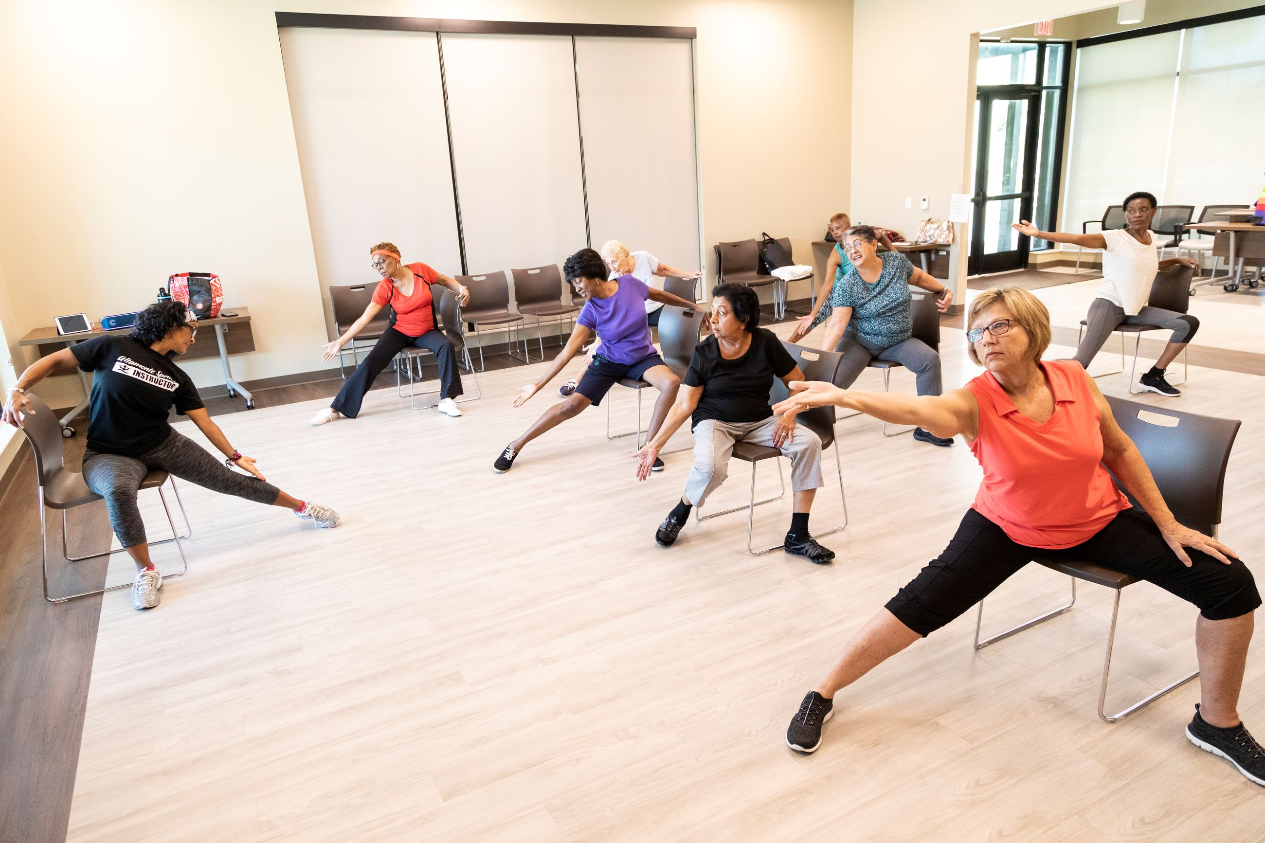 Seniors In an Exercise Class